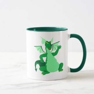 Waving Green Dragon Mug