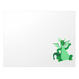 Waving Green Dragon Notepad