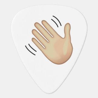 Waving Hand Sign - Emoji Plectrum