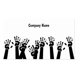 Waving Hands Company Name Business Card