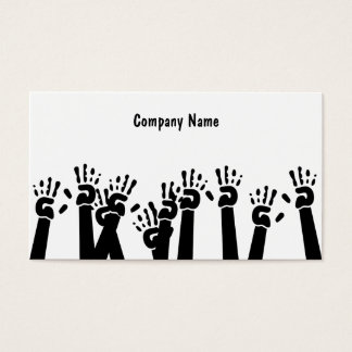 Waving Hands, Company Name Business Card