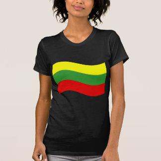 Waving Lithuania Flag T Shirts