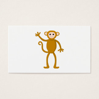 Waving Monkey. Business Card