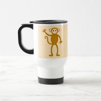 Waving Monkey. Travel Mug