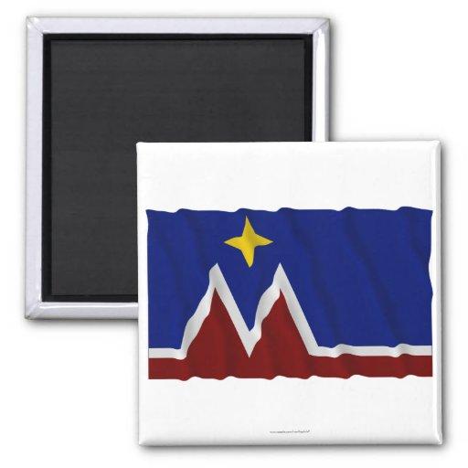 Waving Montana Flag Proposal Fridge Magnets