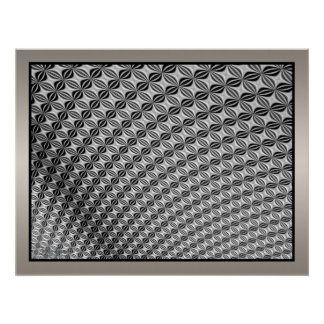 Waving Moving Metallic Surface Poster