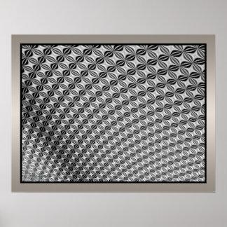 Waving Moving Metallic Surface Posters