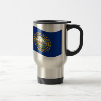 Waving New Hampshire Flag Stainless Steel Travel Mug