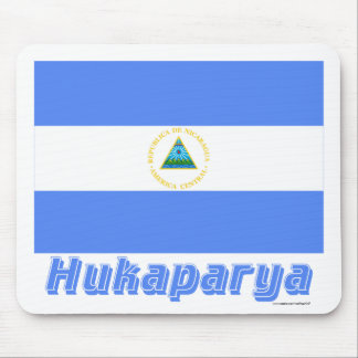 Waving Nicaragua Flag with name in Russian Mouse Pad