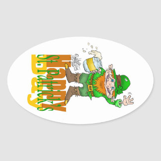 Waving Paddy.-3.jpg Oval Sticker