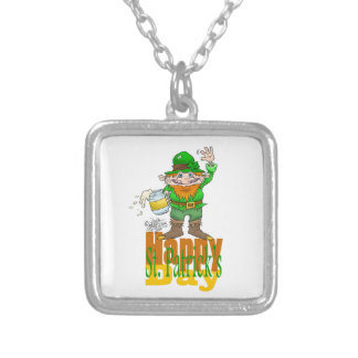 Waving Paddy, on a square pendant necklace.