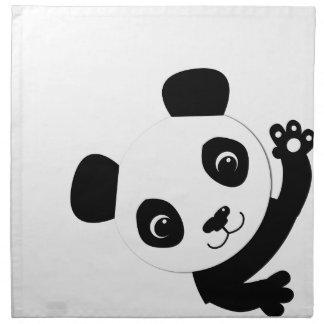 Waving Panda Napkin