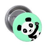 Waving Panda Pinback Buttons