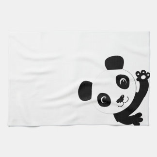 Waving Panda Tea Towel
