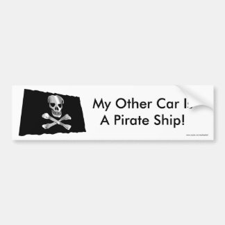 Waving Pirate Flag Bumper Sticker