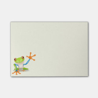 Waving red eyed tree frog illustration post-it® notes