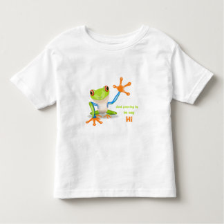 Waving red eyed tree frog toddler shirt
