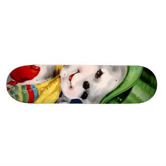 Waving Snowman Skate Deck