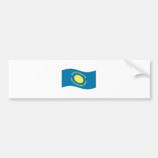Waving South Dakota Flag Bumper Sticker