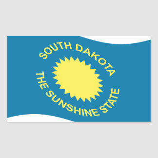 Waving South Dakota Flag Rectangular Sticker