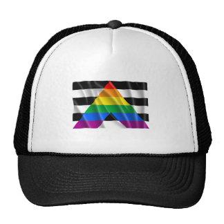 Waving straight ally flag trucker hat