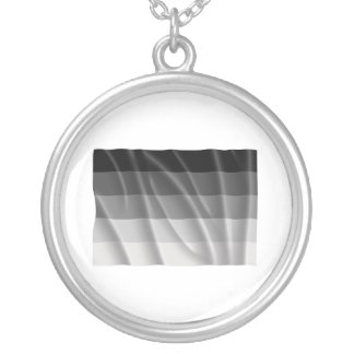 Waving straight pride flag necklaces