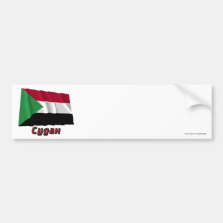 Waving Sudan Flag with name in Russian Bumper Sticker