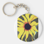 Waving Sunflower Keychain