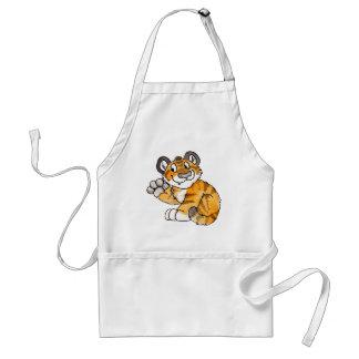 Waving Tiger Cub Apron