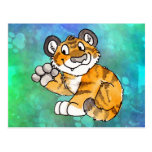 Waving Tiger Cub Postcard