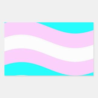 Waving Transgender Flag Rectangular Sticker