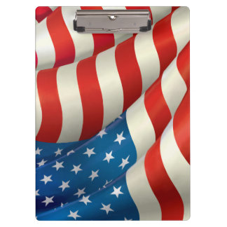 Waving U.S. Flag Clipboard