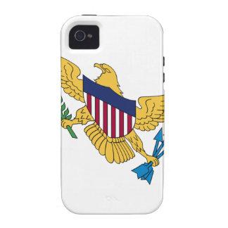 Waving United States Virgin Islands Flag iPhone 4/4S Case