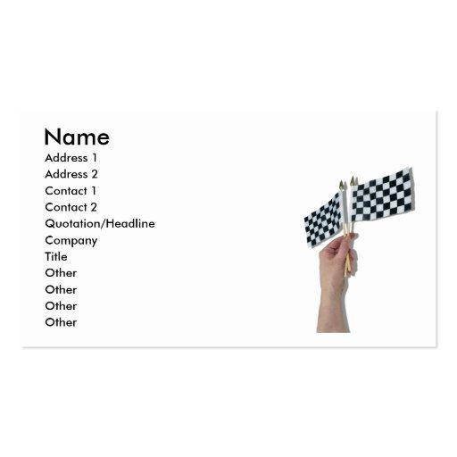 WavingCheckeredFlag073110, Name, Address 1, Add... Business Card Templates