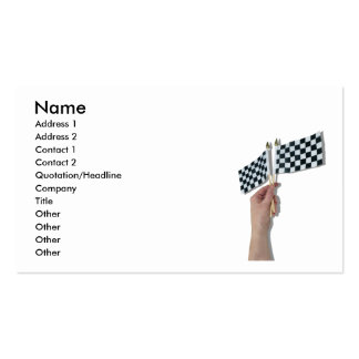 WavingCheckeredFlag073110, Name, Address 1, Add... Pack Of Standard Business Cards