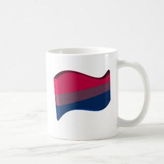 Wavy 3D Bisexual Pride Flag Basic White Mug
