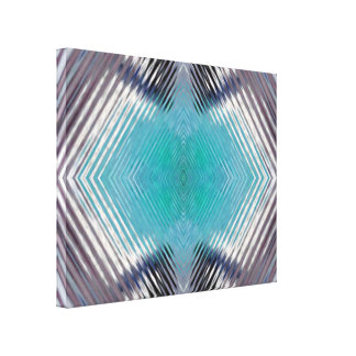 Wavy Abstract Blur Contemporary Canvas Print