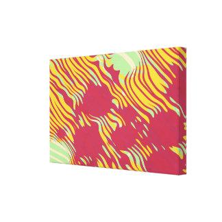 Wavy abstract design canvas print