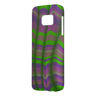 wavy abstract-green and purple