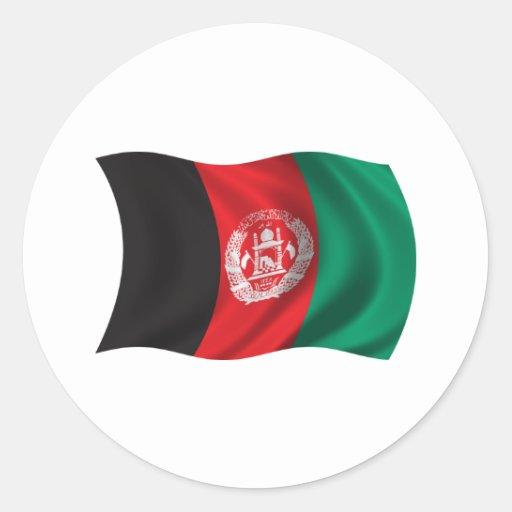 Wavy Afghanistan Flag Sticker