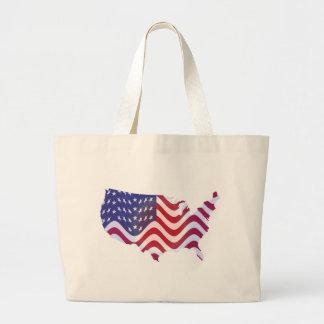 WAVY AMERICAN FLAG LARGE TOTE BAG