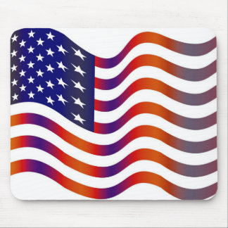 WAVY AMERIICAN SYMBOL FLAG, AMERICAN FLAG GIFT MOUSE PAD