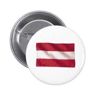Wavy Austria Flag 6 Cm Round Badge