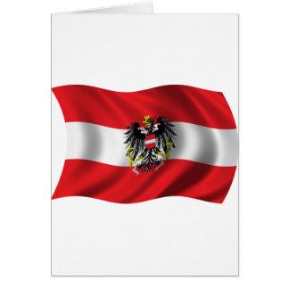 Wavy Austria Flag Greeting Card
