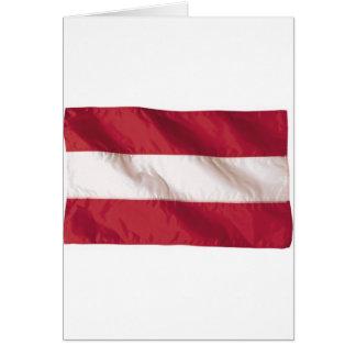 Wavy Austria Flag Greeting Cards