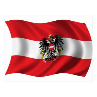 Wavy Austria Flag Postcard