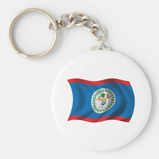 Wavy Belise Flag Key Ring