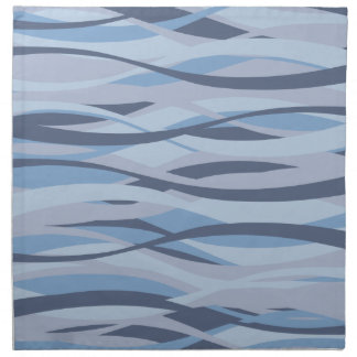 Wavy Blues custom cloth napkins