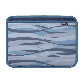 Wavy Blues custom MacBook sleeve