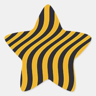 Wavy Bumblebee Slide Stripes Star Sticker